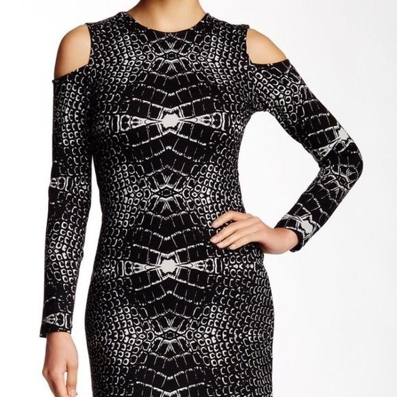 Parker Dresses & Skirts - Parker 'Duffy' cold shoulder dress, black/white M